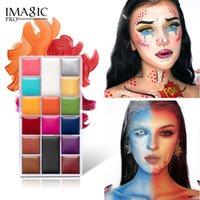 هالوين ماكياج 16 لون الوجه والجسم الطلاء الإناث النفط النيون المائية كوس المرحلة الإبداعية مجردة ceometric تجميل التجميل