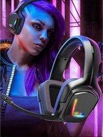 Cuffie per cuffie per cuffie Onikuma K20 Auricolare stereo per PS5 PS4 Gaming con microfono LED Xbox One PC PS3 cuffie auricolari auricolari