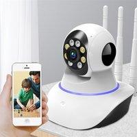 QZT WiFi IP-камера Безопасность видео наблюдения 1080P Ночное видение Умный дом 360 Крытый Детский монитор CCTV 210618