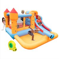 Boîtes de rangement Bins Beaux enfants Château de saut gonflable avec piscine et diapositive incluent un jouet de jeux d'air