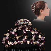 Hair Accessories Women Large Crystal Claw Vintage Butterfly Hairpin Headband Crab Clip Shiny Rhinestone Bow Clips