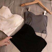 Yaz Casual Yelek Modal Tops Kadın Konu Pamuk Yumuşak Askı Rahat Nefes Güzel Geri Streetwear