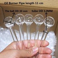 Barco por mar de alta calidad Pyrex Vidrio de vidrio quemador de aceite 11 cm gafas Aceites de tubos quemar tubos para fumar para agua Accesorios de bong de 30 mm de bolas