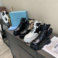 Männer Frauen Rois Boots Designer Knöchel Martin Boot Leder Nylon Abnehmbare Beutel Bootie Militär Inspired Combat Schuhe Original Box Größe 35-45