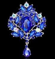 Brooch Grandi donne di cristallo Broach 8 colori Big crystal waterdrop colorato goccia spilla squisita grande Diamante Strass