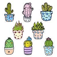 Linda Planta de aleación Broches 8 estilos Potted Esmalte Pines Custom Cactus Aloe Shirt Bag Catoon Insignia Natural Joyería Regalo Niños amigos