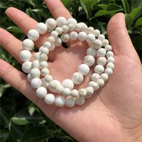 Natural Matte Mongolia Howlite Magnesite Bracelet Round Bead Crystal Reiki Healing Stone Fashion Jewelry For Women And Men Gift Beaded, Stra