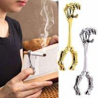 Cluster Rings Cigarette Holder Vintage Skeleton Hand Smoker Elegant Finger Ring For Women And Men C1FC