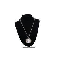 Сублимационные пустые подсолнечники кулон ожерелье теплопередача круглая партия украшения ожерелья DIY подарок с цепью KKB7233