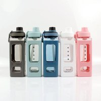 Large-capacity Water Bottles female and male summer plastic straw cups student simple portable sports kettle Drinkware