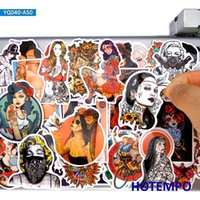 50pcs Sexy Beauty Tattoo Girl Princesse Style Style Stickers Pack pour téléphone bricolage Portable Portable Bagages Guitare Skateboard Vélo Vélo ANIME ANIMO