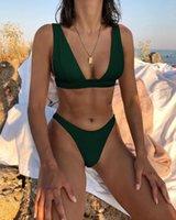 Женские купальники 2021 одежда MS купальник купальный костюм бикини разделить многоцветное твердое