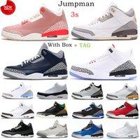 Homens 3 sapatos de basquete Jumpman 3s Unc Black White Mens Fragment Fragment Knicks Rivais Retro Retro Vermelho III Centre Treinadores Treinadores Sneakers