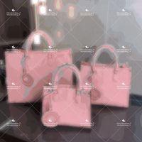 Rosa auf dem Go High Quality Designer Classic Shopping Taschen, voller Lederhandtasche, Damenmode Große doppelseitige Druck, verschiedene Arten, große Kapazität Tote
