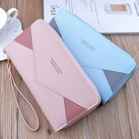 Double Zip Wallet Clutch Long Fashion Contrast Color Mother Large Capacity Litchi For Women Wallets