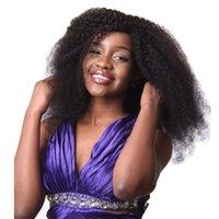Perulu Afro Kinky Kıvırcık Saç 2/3 Demetleri Perulu Bakire Afro Kinky Kıvırcık İnsan Saç Uzantıları Perulu Afro Kinky Kıvırcık Saç Satıcıları