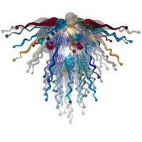 Hand Blown Glass Chandelier Pendant Lamps Multi Color Nordic Art Decor Custom LED Indoor Lighting for House Decoration Living Room