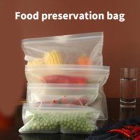 Food Savers & Storage Containers Home Silicone Sealed Zipper Bags Kitchen Sealing Bag Container Refrigerator Fresh Salad Cooking