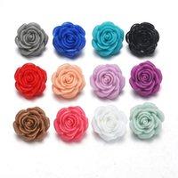Charme Armbänder 12 Farben 10pcs / lot DIY Zufällige Blume 18mm Snapasten Button Taste für Snaps Fit Schmuck