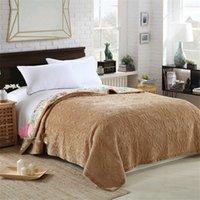 Autumn Embroidered fleece blanket Crystal velvet quilted bed cover soft bedspread cobertor summer comforter bedding home textile
