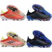 2021 Yeni X Speedflow + FG Futbol Ayakkabı Yüksek Kalite Siyah Beyaz Kırmızı Speedflow Futbol Cleats Çizmeler Açık Boyutu 39-45 J6LD #