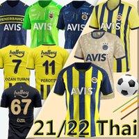 Fenerbahçe SK 2020 2021 Futbol Jersey Eve Uzakta Üçüncü 20/21 Thiam Pelkas Mesut ÖzIL Ozan Tufan Perotti Samatta Futbol jerseys Formaları Üniformaları futbol gömlekleri