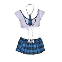 New School Girl Sexy Costumes Student Uniform Maid Fancy Cosplay Lingerie Women Hot Student Uniform Dress Outfit Costumes