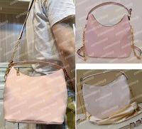 2021 Moda Designer Marshmallow Hobo Ombro Crossbody Bag Embossed Green Greened Cowhide Lady Lady Tote Chains Bolsas Messenger Bolsas com Cinta 45698