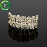 Hip Hop Jewelry Mens Teeth Grills Diamond Iced Out Grillz Luxury Designer Gold Silver Fashion Accessories Rapper Bling Charms