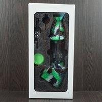Nettare Collector Premium Tabacco Set Set di narghilè contenitore di cera contenitore in silicone Bong con quarzo per unghie Deposito di metallo DABBER DABBER PIPO DI FUMAZIONE DAB RIG