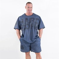 Gym Clothing Loose Mesh Breathable Gyms Shirt Sport T Casual Short Sleeve Running Workout Training Tees Fitness Top