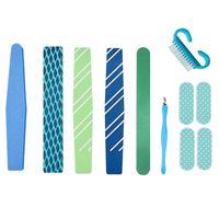Nail Art Kits 8pcs Tool Set Polishing Strip File Stainless Steel Dead Skin Scissor Fork Manicure Remover Tools