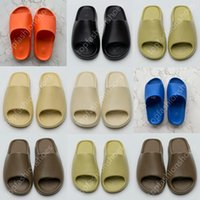 With Box Slippers sandals Big Size Sneakers Shoes Graffiti Bone White Resin Desert Sand Rubber Summer Earth Brown Flat Men Women Beach fashion Outdoor Trainers