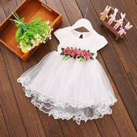 Girl's Dresses Children's Toddler Baby Floral Dress Princess Party Wedding Tulle Kids For Summer Girls 2 To 3 Years