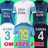 Camisa de futebol 21 22 Olympique De Marseille 2021 2022 Camisa de futebol OM MILIK CUISANCE BENEDETTO KAMARA THAUVIN PAYET ALVARO soccer jersey