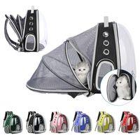 Multi - Function Cat Bag Transparente Pet Out Loading Dobrando Dobrando espaço aberto Backpack Barraca Suprimentos Transportadores, Caixas Casas