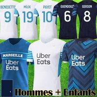 Maillot om 2021 2022 fãs de futebol fãs Versão de jogador Maillots Foot Milik Balr Benedetto Payet 21 22 Gerson Men Jersey Guendouzi Camisas