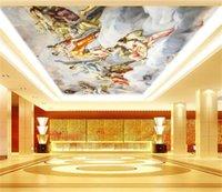 Mural Techo Techo Estilo europeo Ángel Zenith mural Mural Papel pintado 3D Papeles de pared 3D para telón de fondo de TV 1453 V2
