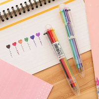 T day Korea creative cute cartoon ball point multi function press color personalized oil pen stationery EB4D