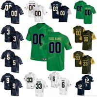 NCAA College Jerseys 1 Louis Nix III 12 Ian Book 23 Golden Tate 25 Braden Lenzy 3 Michael Floyd 3 Joe Montana Football personnalisé Couts