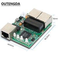 3 Porte 10/100 / 1000 Mbps Switch PCBA Modulo Sicurezza Sicurezza Monitoraggio Network Hub Mini Gigabit Incorporato Ethernet incorporato Veloce