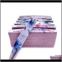 50 stück nagel datei starken schleif waschbar nagelpuffer block 80/100/150/180/240/320 grit lime agle maniküre datei blume gedruckt ckx6a llo3c