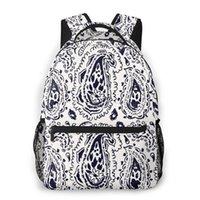 Backpack Kui Liu Teenager School Bag Boys Paisley Pattern Print Kids Schoolbags Orthopedic Children Bookbag Mochila Escolar