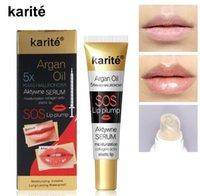 Karite Lip Glossの即時のボリュームのプラマーコラーゲンピンプットモイスチャライザーのリップグロス極度の容量エッセンス唇血清アルガンオイル