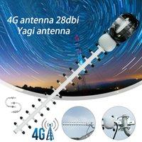 4G 28DBI Yagi Andenna SMA Мужской Wi-Fi Усилитель сигнала Усилитель сигнала LTE 2700 МГц Открытый Наружные Усилители TV Andennas Modem RG58 1.5M