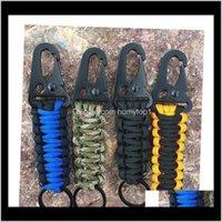 EDC Paracord веревочка брелок открытый кемпинг набор выживаний военный парашютный шнур аварийный узел ключ цепь кольцо jlljdi humytop1