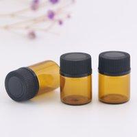 1ml 2ml 3ml 5ml Amber Dropper Mini Glass Bottle Essential Oil Display Vial Small Serum Perfume Brown Sample container DH9588