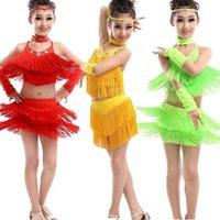 Etapa desgaste Moderno Girl Latin Dance Vestido para niñas Samba Ballroom Baile Competición Dancewear Kids Trajes para niños