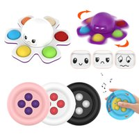 favor Fidget Toys Octopus fingerts spinner Push Bubble Happy Sad Finger Spinners Decompression Toy Artifact Fingertip Novelty Sensory Autism Needs Anxiety