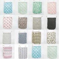 세탁 바구니 실린더 패브릭 접이식 의류 저장소 버킷 키즈 완구 저장소 배럴 홈 주최자 14Style GWC7040